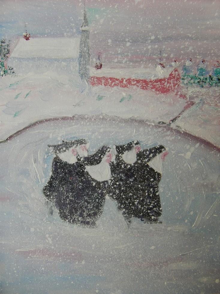 Nuns skating
